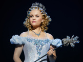Amanda Jane Cooper as Glinda in Wicked.