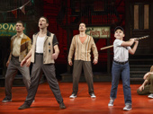 Will Coombs as Young Calogero and the cast of A Bronx Tale.
