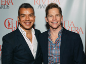 Sergio Trujillo and his partner Jack Noseworthy celebrate Trujillo's nomination for choreographing A Bronx Tale.