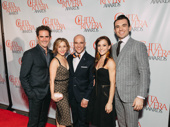Bandstand's director/choreographer Andy Blankenbuehler and standouts Andrea Dotto, Ryan Kasprzak, Jaime Verazin and Max Clayton celebrate Blankenbuehler's win for Outstanding Choreography.