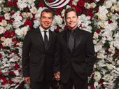 Tony-nominated choreographer Sergio Trujillo and his partner Jack Noseworthy snap a photo.