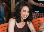Queen Lesli Margherita greets her fans at the Broadway Flea.