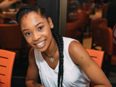 Once on This Island leading lady Hailey Kilgore enjoys meeting the fans at her first Broadway Flea Market.