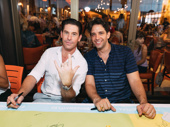 A Bronx Tale's Richard H. Blake and Nick Cordero enjoy Broadway bro time at the autograph table.
