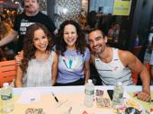Hamilton's Lexi Lawson, Mandy Gonzalez and Javier Muñoz get goofy at the autograph table.