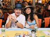 Miss Saigon's Jon Jon Briones and Eva Noblezada get together.