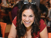 Hey there, Fly Girl! Broadway favorite Lindsay Mendez is all smiles at the autograph table.