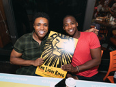 Kings of the Jungle! The Lion King's L. Steven Taylor and Jelani Remy show off their show poster.