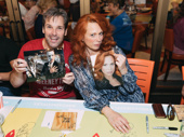 Sweeney Todd's Hugh Panaro and Carolee Carmello take a break from Fleet Street to meet some fans.