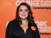 A Clockwork Orange's director Alexandra Spencer-Jones hits the orange carpet.