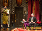 Clifton Duncan, Jonathan Felding and Harrison Unger in The Play That Goes Wrong.