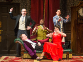 Broadway company of The Play That Goes Wrong
