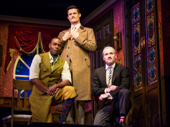 Clifton Duncan, Mark Evans and Harrison Unger in The Play That Goes Wrong.