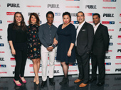 Tiny Beautiful cast members Ceci Ferandez, Nia Vardalos, Hubert Point-DuJour, Natalie Woolams-Torres, Teddy Cañez and Delance Minefee snap a pic.