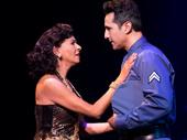 Nancy Ticotin as Gloria Fajardo and Jason Martinez as José Fajardo in the national tour of On Your Feet.