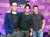 Let's hear it for the boys! Alan Cumming, Darren Criss and Jeremy Jordan get together.(Photo: Jenny Anderson/Getty Images)