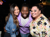 Can these three have a riff-off please? Jenna Ushkowitz, Once on This Island's Alex Newell and Keala Settle get together.(Photo: Jenny Anderson/Getty Images)