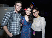 Alistair Brammer, Auli'i Cravalho and Eva Noblezada snap a sweet pic. (Photo: Jenny Anderson/Getty Images)