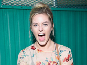 Mean Girls star Taylor Louderman gets in Queen Bee mode backstage at Elsie Fest.(Photo: Jenny Anderson/Getty Images)