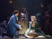 Joshua Grosso as Marius, Phoenix Best as Eponine and JillIan Butler as Cosette in Les Miserables