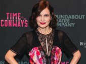 Time and the Conways star Elizabeth McGovern is all smiles for her Broadway return.
