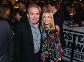 Broadway legend Andrew Lloyd Webber and his daughter, Broadway.com contributor Imogen, are all smiles for opening night of Springsteen on Broadway.