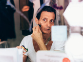 Ted Brunetti applies his Frankie Coffeecake makeup.