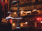 Bobby Conte Thornton hits the Longacre Theatre stage for fight call.