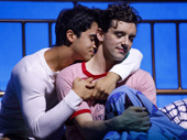 Michael Rosen as Alan and Michael Urie as Arnold in the off-Broadway production of Torch Song.