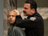 Sean Carvajal as Angel Cruz and Ricardo Chavira as Valdez in Jesus Hopped the A Train.
