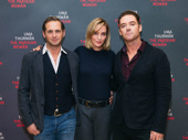 The Parisian Woman stars Josh Lucas, Uma Thurman and Marton Csokas snap a pic.