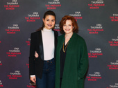 The Parisian Woman's Phillipa Soo and Blair Brown take a photo.