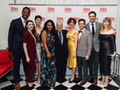 Prince of Broadway's Quentin Oliver Lee, Kaley Ann Voorhees, Emma Stratton, Bryonha Marie Parham, Janet Dacal, Brandon Uranowitz, Michael Xavier and Emily Skinner gather around Harold Prince on his big night.