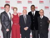 So much Broadway greatness in one photo! Jason Danieley, Marin Mazzie, Norm Lewis and Joel Grey hit the red carpet with Harold Prince.(Photo: Richard Mitchell)