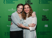 What an adorable shot of The Last Match's scribe Anna Ziegler and director Gaye Taylor Upchurch!