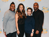 The gods assemble! Once on This Island's Alex Newell, Merle Dandridge, Lea Salonga and Quentin Earl Darrington have arrived.