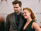 Broadway BFFs Andrew Rannells and Frozen star Patti Murin attend M. Butterfly's opening night together.