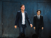 M. Butterfly's Clive Owen and Jin Ha enjoy the opening night crowd.