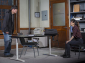Ki Hong Lee as Dennis and Sue Jean Kim as Gina in Office Hour.
