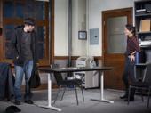 Ki Hong Lee as Dennis and Sue Jean Kim as Gina in Office Hour.