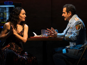 Katrina Lenk as Dina and Tony Shalhoub as Tewfiq in The Band's Visit