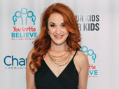 Broadway fave Sierra Boggess snaps a photo.