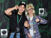 Theater couple Skylar Astin and Anna Camp's Wayne's World costumes are epic.