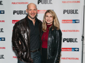 Corey Stoll and Nadia Bowers spend date night at an off-Broadway opening.