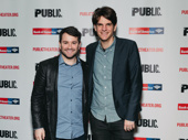 Alex Brightman and Alex Timbers hang out at the off-Broadway opening of Illyria.