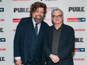 The Public Theater's Artistic Director Oskar Eustis and Illyria scribe/director Richard Nelson are all smiles for opening night. See Illyria through December 10.