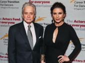 Michael Douglas and Catherine Zeta-Jones step out to celebrate her Actors Fund honor.