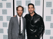 Junk's Joey Slotnick hangs with his pal David Schwimmer on opening night.