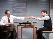 Damian Young as Stu and Skylar Astin as Webber in What We're Up Against