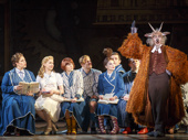 Harry Bouvy as Doctor Dillamond and the cast of the national tour of Wicked